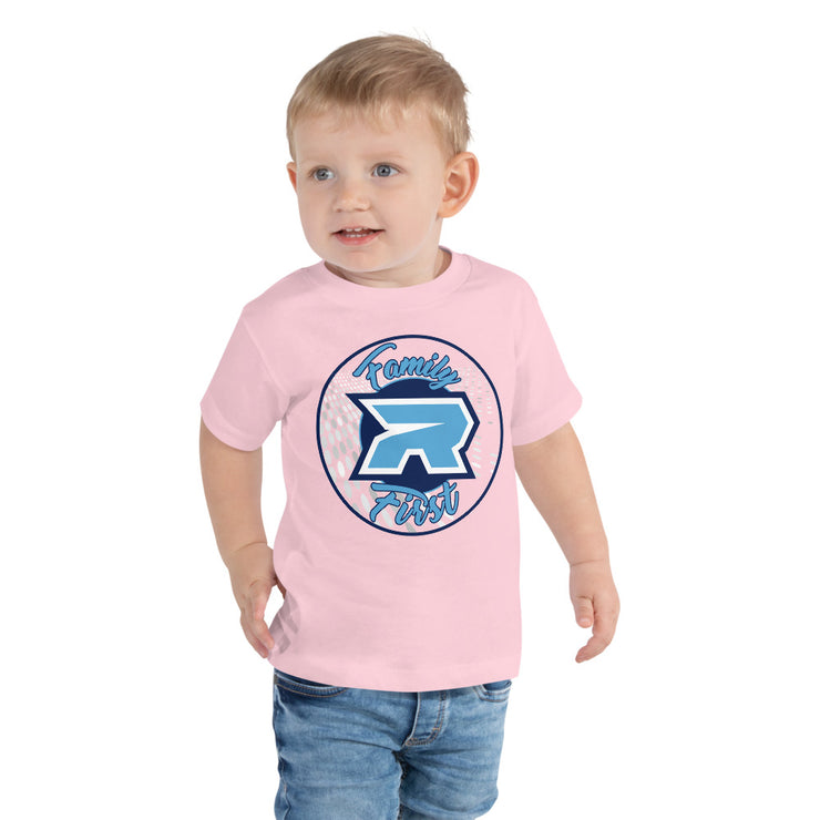 Riot Mi Familia Blue Logo Toddler Short Sleeve Tee