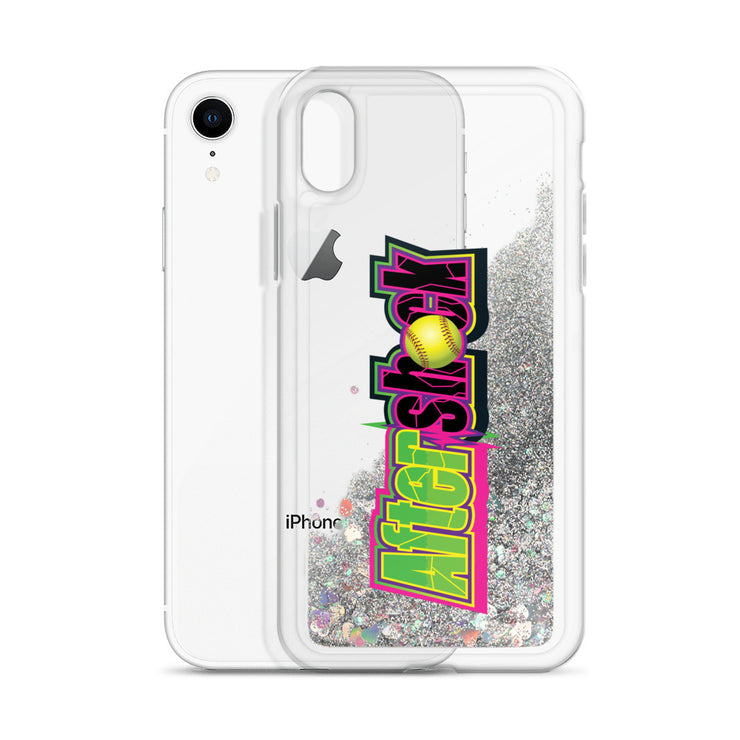 Liquid Glitter Phone Case with Aftershock 9U Logo