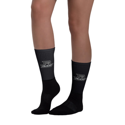 Black/Charcoal Full Dye Riot Socks
