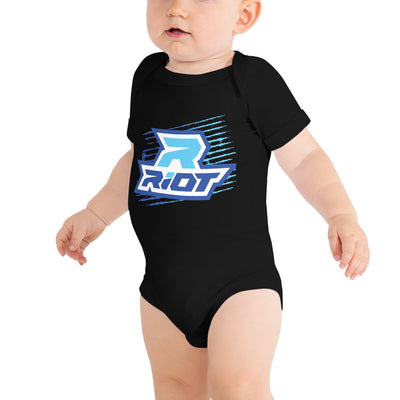 Blue Grunge Riot Baby Short Sleeve Onesie - Pick your shirt color