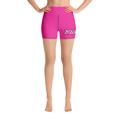 Hot Pink Full Dye Yoga Shorts