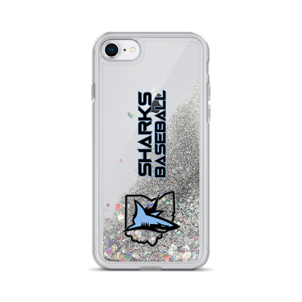 Sharks Liquid Glitter Phone Case