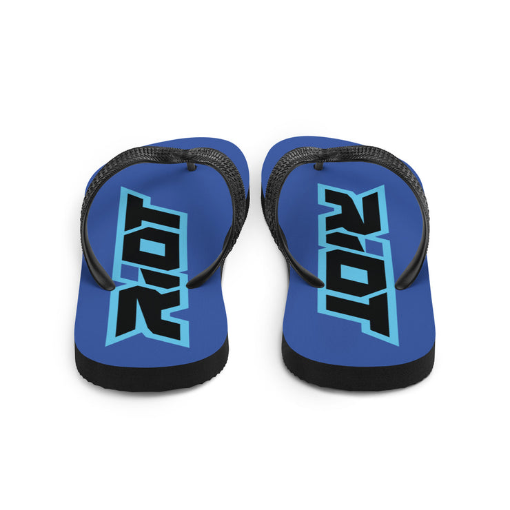 Blue Sublimated Riot Flip Flops