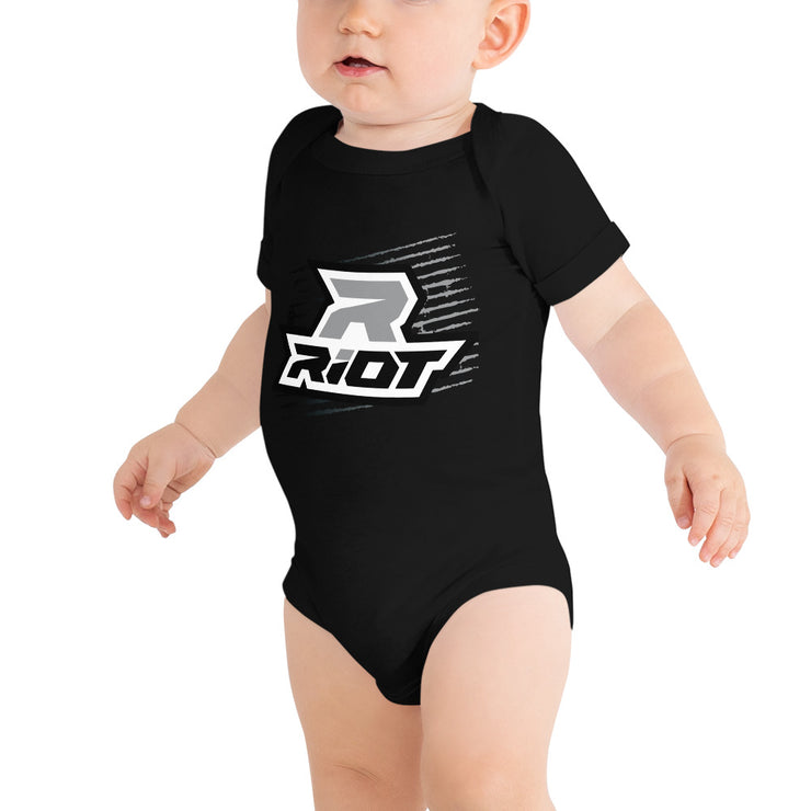 Black Grunge Riot Baby Short Sleeve Onesie - Pick your shirt color