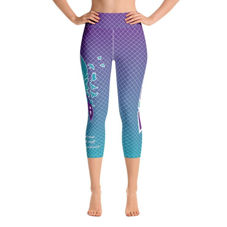 Suicide Awareness Full Dye Yoga Capri Leggings
