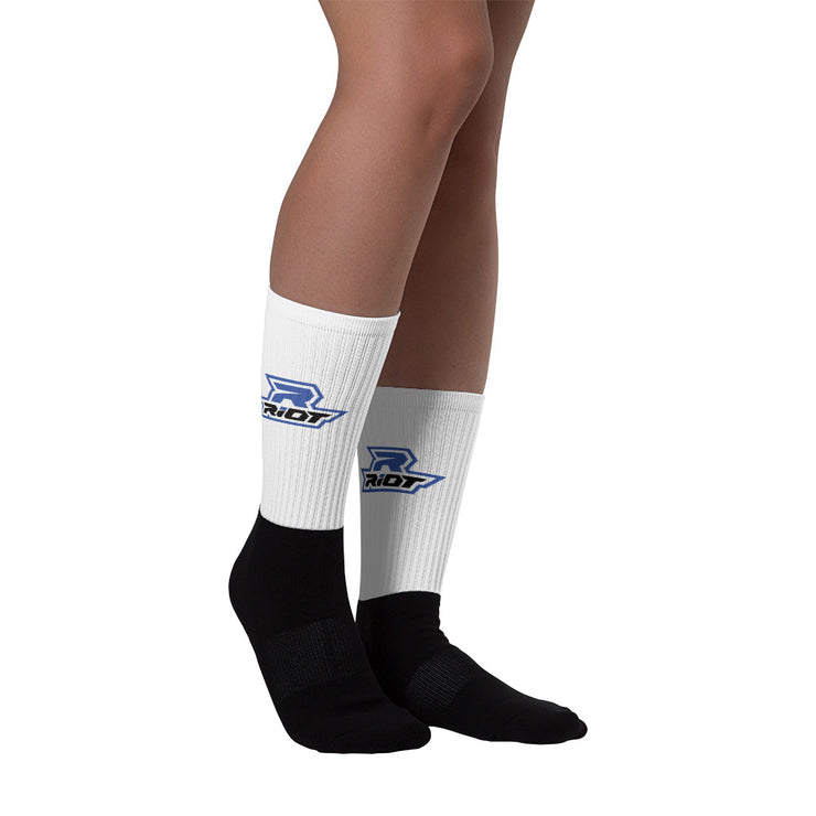 White/Royal Blue Full Dye Riot Socks