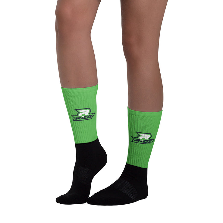Kelly Green Full Dye Riot Socks