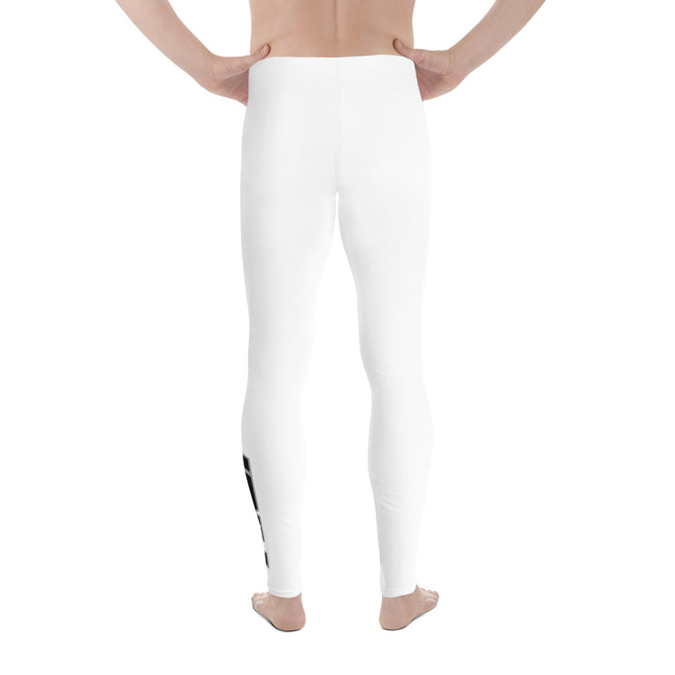 White Full Dye Riot Men's Leggings