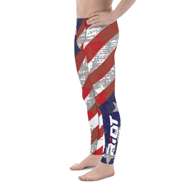 American Stars Stripes Full Dye Men's Leggings