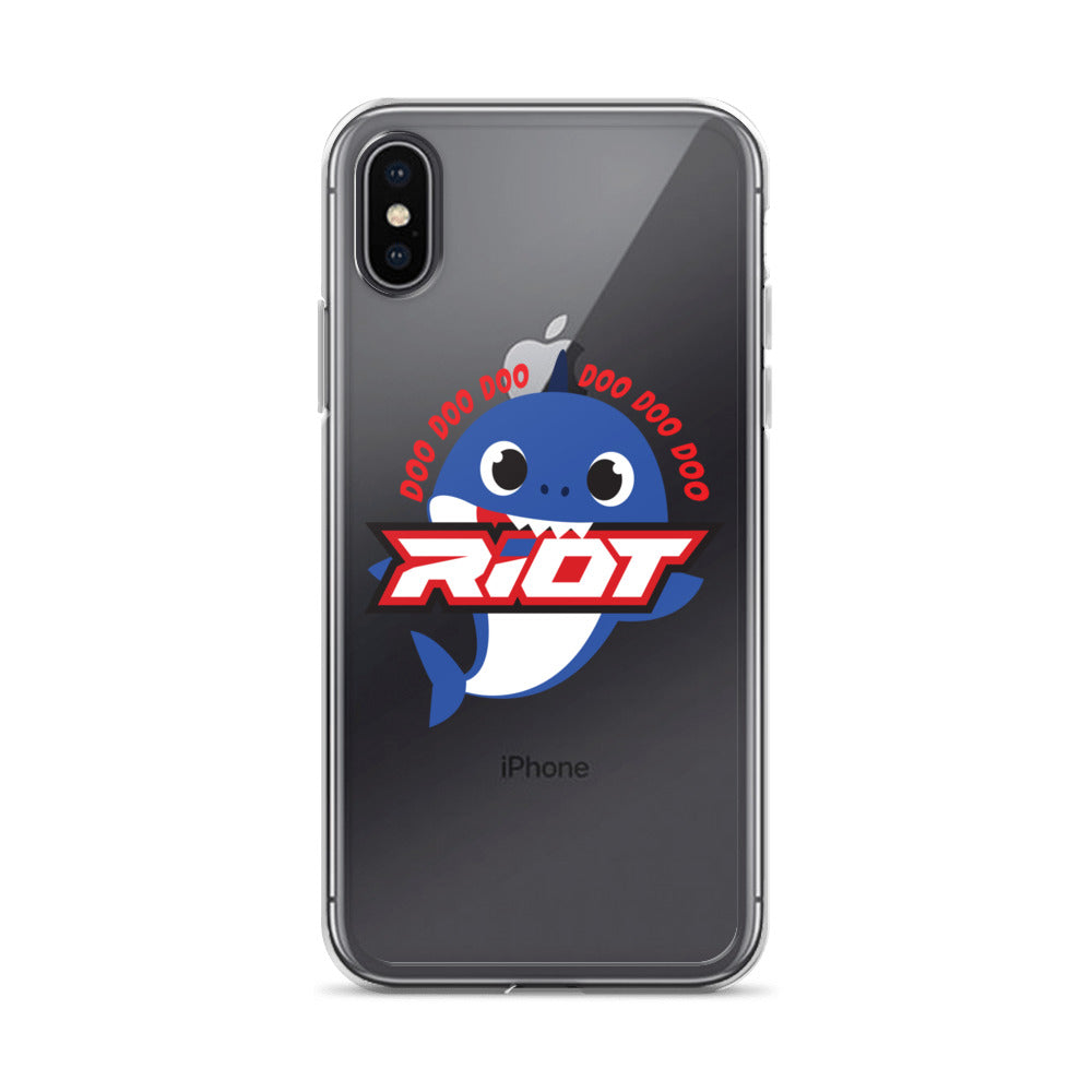 Blue Baby Shark Riot Logo iPhone Case