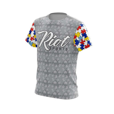 2021 Autism Full Dye Riot Short Sleeve Preorder - Customizable