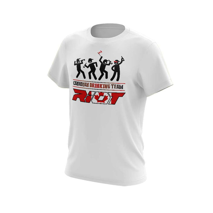 **New** Shirt with USA or Canadian Drinking Team Riot Logo - Choose your shirt style