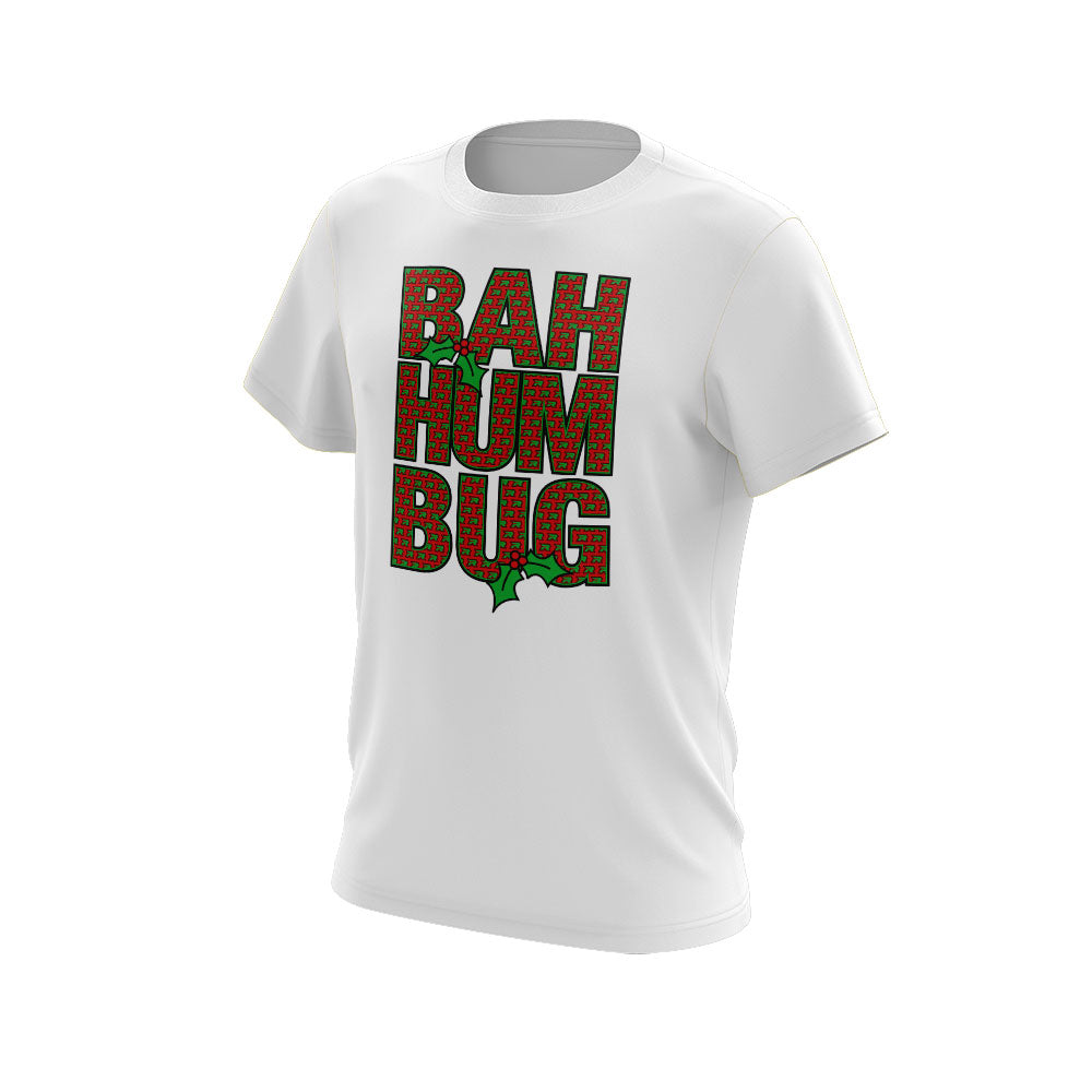 White Short Sleeve with Riot Bah Hum Bug Logo