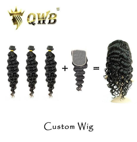 bundles with closure custom wig