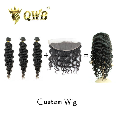 bundles with frontal custom wig