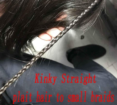 kinky straight braiding