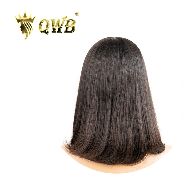 Free Shipping Brazilian Virgin Hair Straight Bob Wig With Bangs
