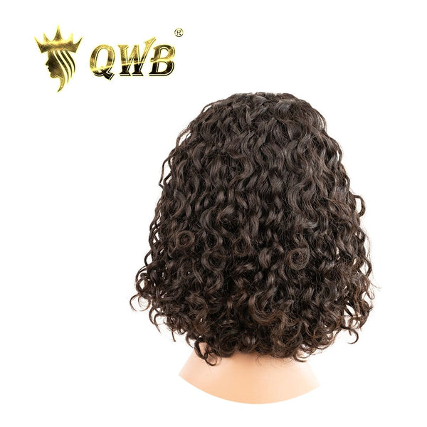 QWB Free Shipping Brazilian Virgin Hair Water Wave Headband Bob Wig