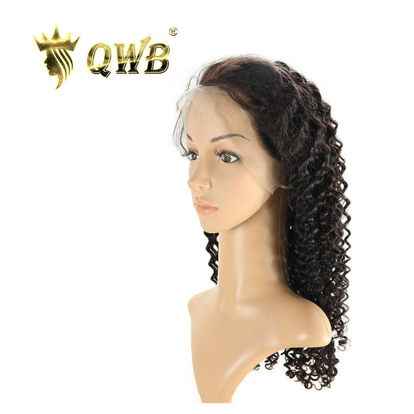 Free Shipping 13x5 Inch Deep Part Deep Wave Transparent Lace Front Wig