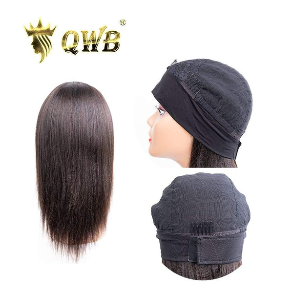 QWB Free Shipping Brazilian Human Hair Straight Headband Glueless Wig