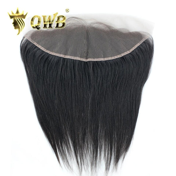 Free Shipping 13x4 Inch Straight Transparent Lace Pre Plucked Frontal