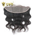 Free Shipping 13x4 Inch Body Wave Transparent Lace Pre Plucked Frontal