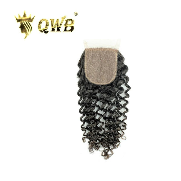 Free Shipping 3.5x4 Inch Tight Curly Silk Base Closure
