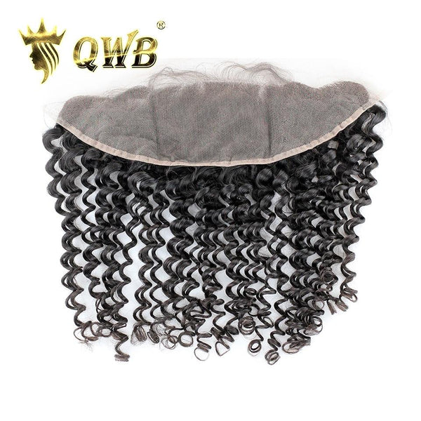 Free Shipping 13x4 Inch Tight Curly Transparent Lace Pre Plucked Frontal