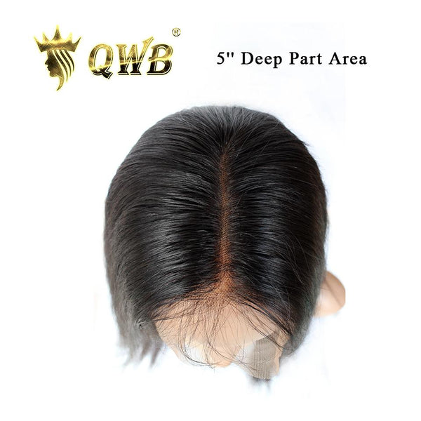 Free Shipping 13x5 Inch Deep Part Body WaveTransparent Lace Front Wig