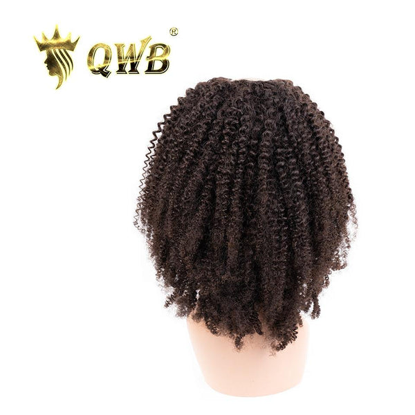 QWB 200%~250% Density Free Shipping Kinky Curly U Part Wig