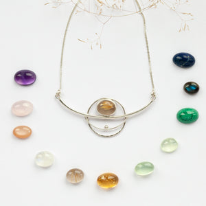 Choose Your Stone : Aya necklace  (made to order)