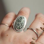 Load image into Gallery viewer, OOAK • Size FR 54 ~ US 7 : Sena ring with pyrite agate (ready-to-ship)