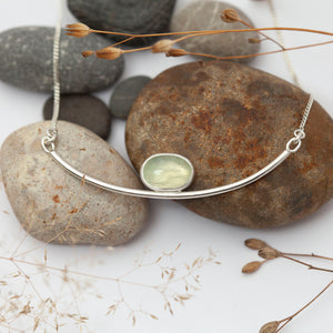 The original Oona necklace with prehnite   (unique, ready to ship)