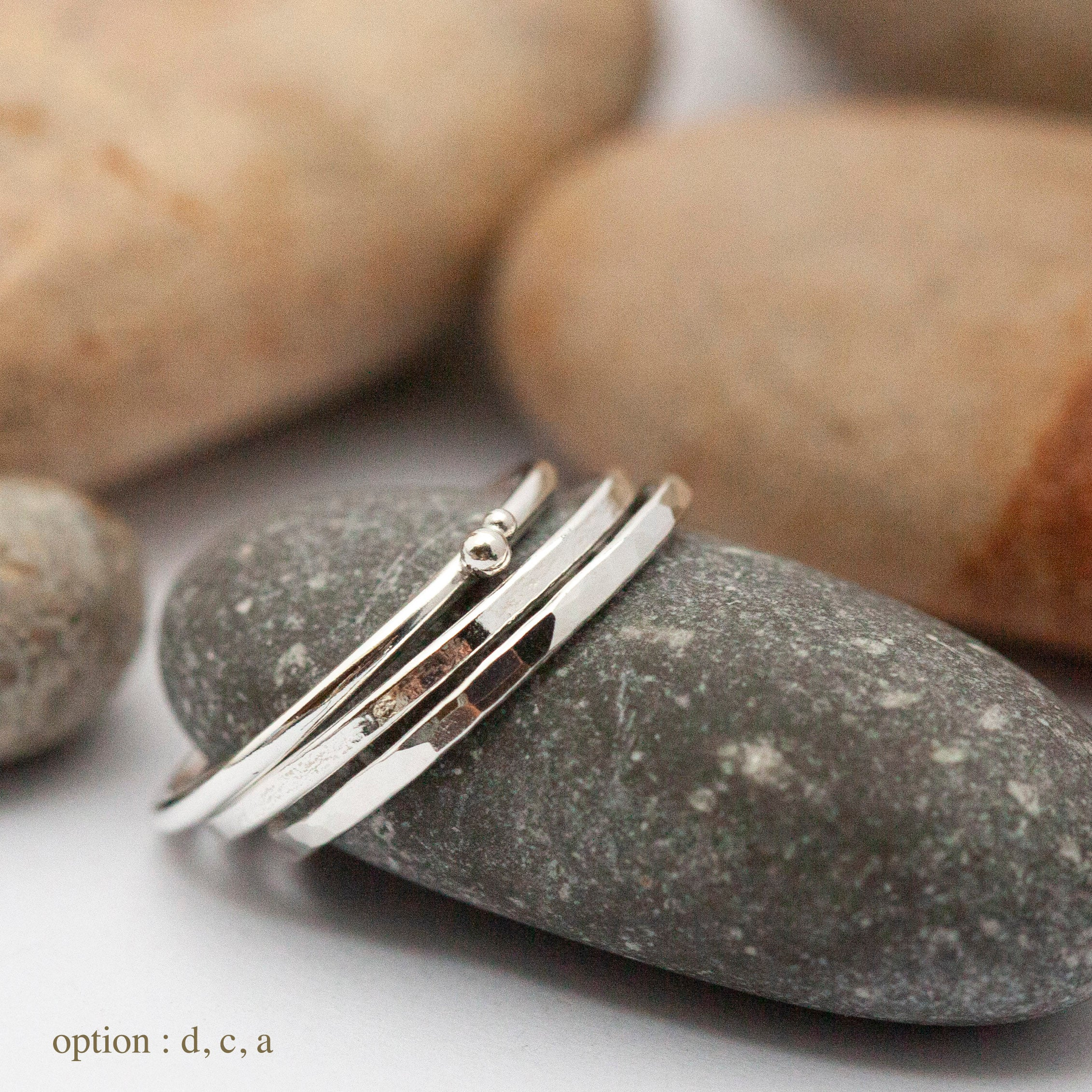 Stacking rings in silver ~ 5 different designs to choose from