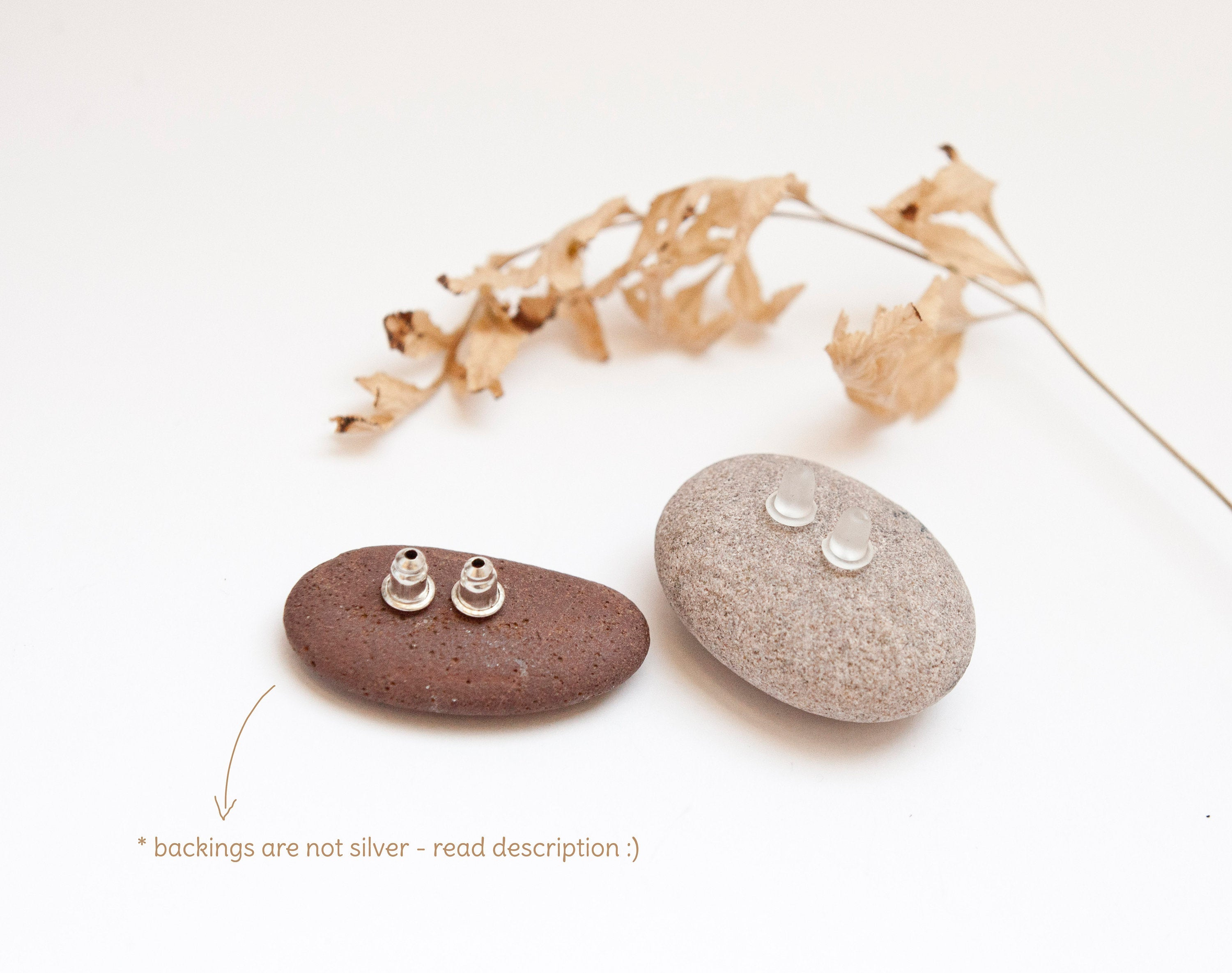 Ready to ship : Tiny silver bowls earrings