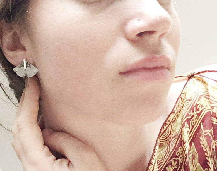 Ear jackets in silver with ethnic patterns