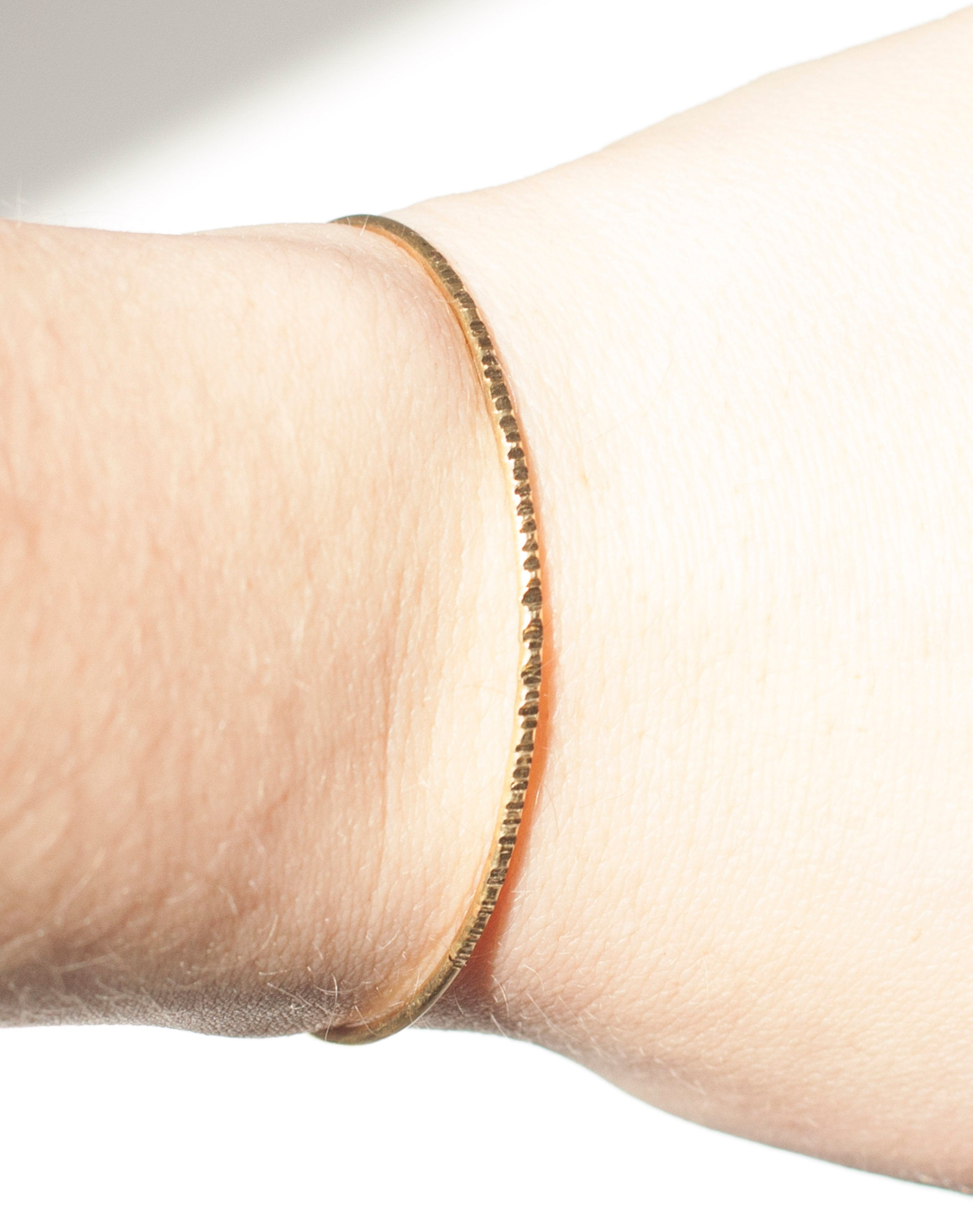 Thin hammered brass cuff bracelet    (Made to order)