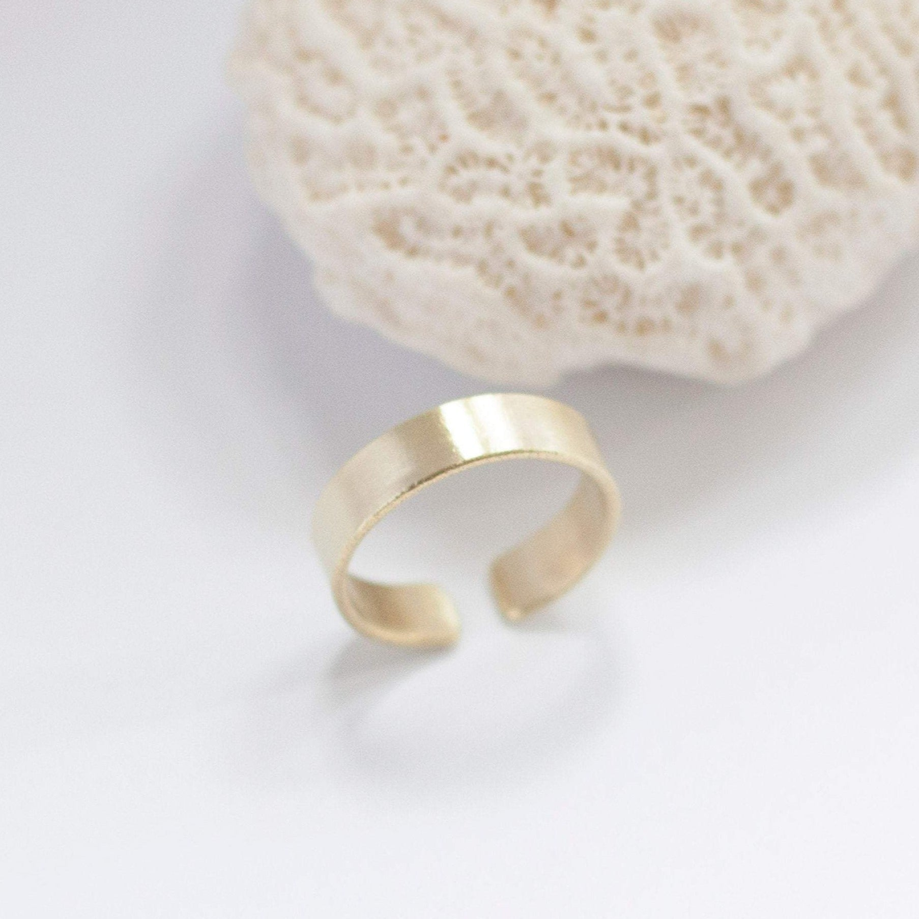 Open brass ring with brushed finish ~ round    (Made to order)