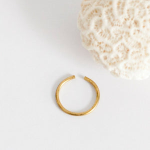 Thin open brass ring   (Made to order)