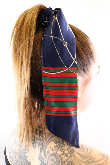 Hair Scarf Versailles In hair blue green red