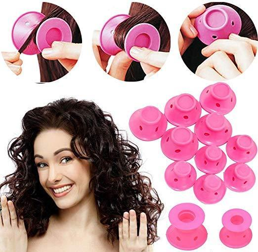 Magic Hair Rollers No Clip Silicone Curlers Professional Hair Style Tools Accessories,No Heat No Damage to Hair