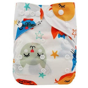 Reusable One-Size-Fits-All Baby Diapers