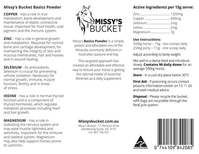 Missy's Bucket Basics Powder + Magnesium