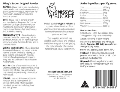 Missy's Bucket Original Powder