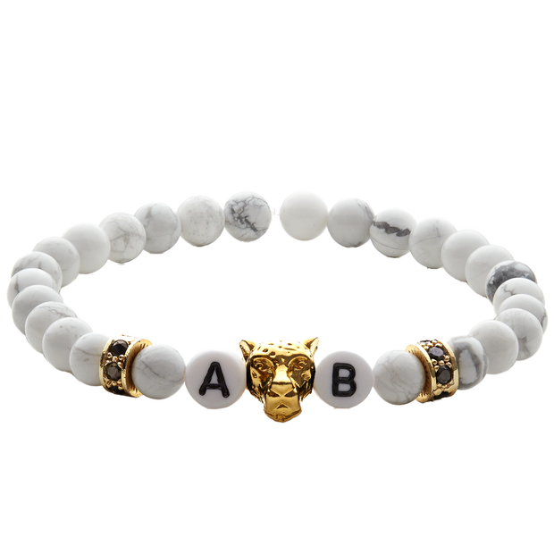 white tiger gold damenarmband