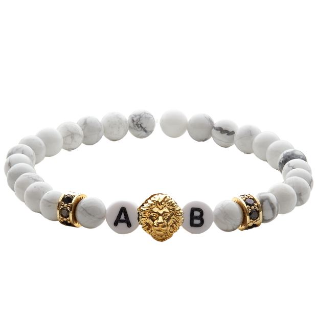 white lion gold herrenarmband
