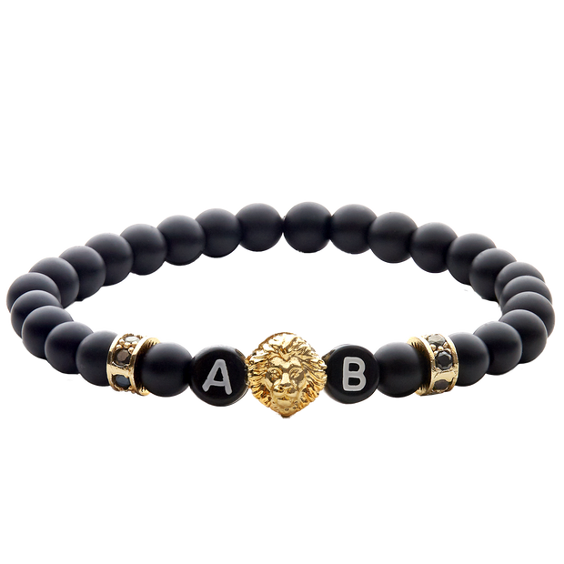 black lion gold herrenarmband