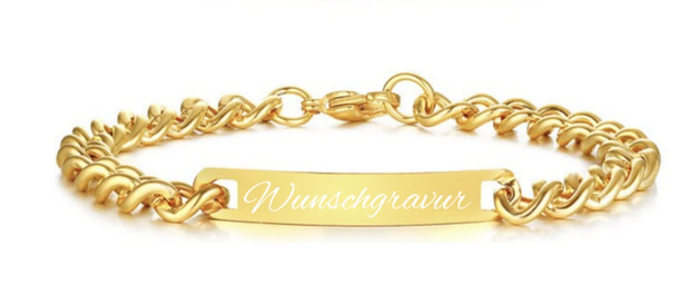 silver edition gold herrenarmband