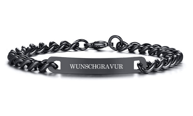 silver edition black herrenarmband