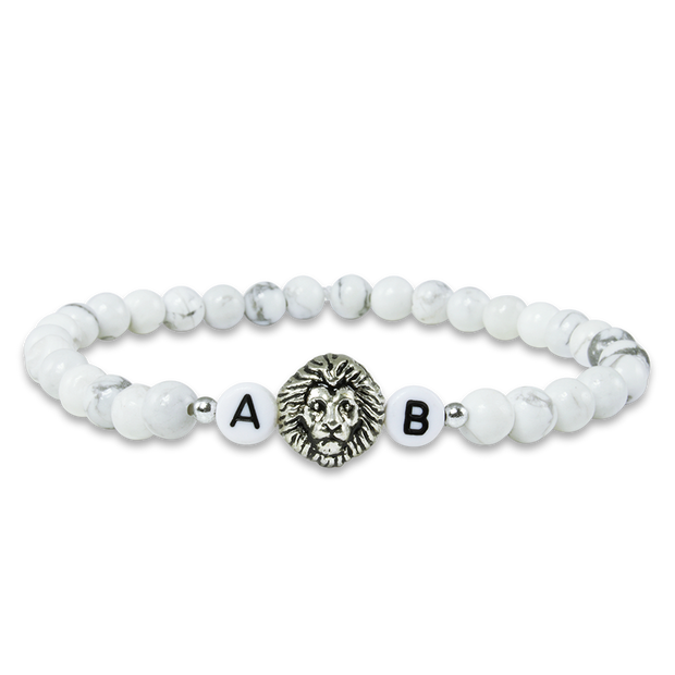 white lion damenarmband